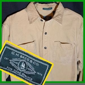 GH BASS & CO Duck Canvas Work Shirt thick